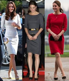royalroaster:  Duchess of Cambridge in shift dresses Amana Wakeley (1 and 2) and Katherine Hooker (3)
