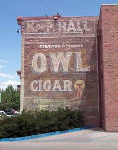 Owl Cigar ghost sign, Socorro, NM