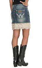 Wrangler Women's Mae Denim with Cream Lace Trim Skirt