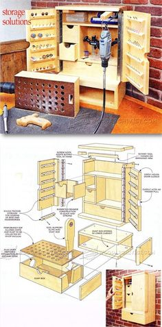 Rotary Tool Cabinet Plans - Workshop Solutions Projects, Tips and Tricks   WoodArchivist.com