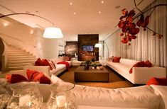 living room - Interior design ideas and decorating ideas for home decoration whats with the tiny ass tv? Living Room On A Budget, Cozy Living Rooms, Living Room Interior, Living Room Furniture, Living Room Decor, Bedroom Decor, White Furniture, Best Interior, Interior Design