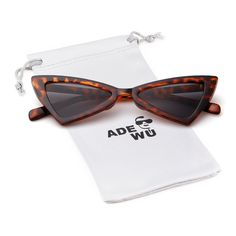 c5bda461d3433 Metal Hinge Women Butterfly Cat Eye Sunglasses Fashion Triangle Glasses    See this great product.