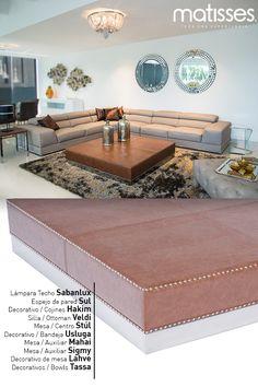 Proponemos esta experiencia Matisses con un living estilo contemporáneo, muebles con líneas simples y detalles decorativos en los espejos y alfombras.
