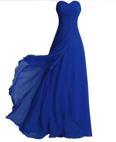 Fashion Plaza Chiffon elegant Falten Schulterfrei Maxikleider Brautjungfern mit Schnürung am Rücken in 8 Farben D072: Amazon.de: Bekleidung