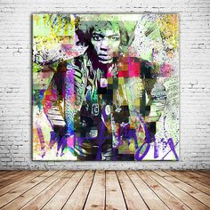 "Jimi Hendrix ""VOODOO TIME"" als Kunstdruck auf Leinwand, als Alu-Dibond und Alu-Acryl ab 30,- € bei www.ohchapeau.de bestellen!"