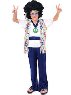 #1960s hippie dude medallion boys #fancy dress 60s hippy kids #child costume outf,  View more on the LINK: http://www.zeppy.io/product/gb/2/191802032360/
