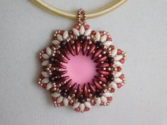 Beaded Pendant Tutorial Beading Pattern Instructions