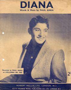 Paul Anka Paul Anka Diana, Music Publishing, Sheet Music, Words, Movie Posters, Film Poster, Music Sheets, Billboard, Horse
