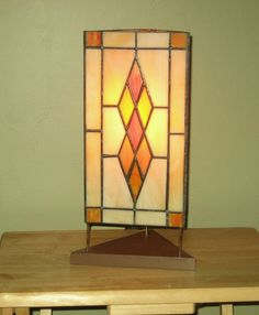 Classic Argyle Pattern Stained Glass Lamp by BarbsStainedGlass, $170.00