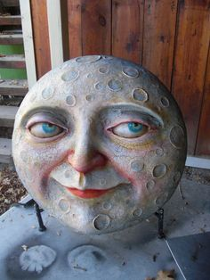 Fine Porcelain China Diane Japan Value Info: 6084665578 Paper Mache Mask, Paper Mache Sculpture, Paper Mache Crafts, Hand Sculpture, Sun Moon Stars, Sun And Stars, Halloween Art, Vintage Halloween, Paper Clay