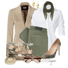 Camo Colors by ccroquer on Polyvore featuring moda, Steffen Schraut, D&G, Victoria Beckham, Valentino, Miss Selfridge, Red Herring, River Island and Alexander McQueen