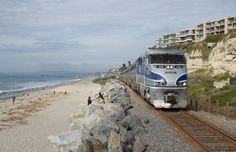 The surf and the sand are right outside the window of the Pacific Surfliner. Thank you, Greg, for sharing your photo with us.
