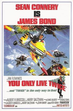 One version of a cinema poster for 'You Only Live Twice' (1967)