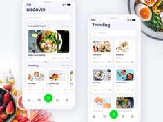 Food App Exploration designed by Nazmul Hassan. Connect with them on Dribbble; Ui Design Mobile, Design Ios, Interface Design, Flat Design, User Interface, Clean Web Design, Mobile Ui Patterns, Cooking App, Web Layout