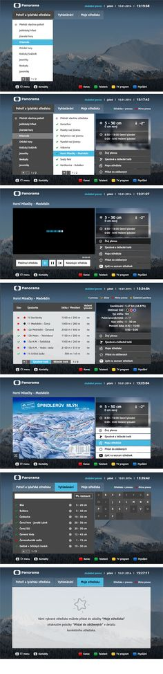 Popular Panorama program as HbbTV aplication on Czech TV. #hbbtv #tv #ux