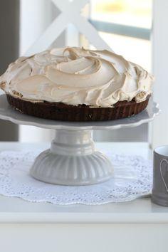 Coffee meringue brownies - must try this (recipe in Norwegian)