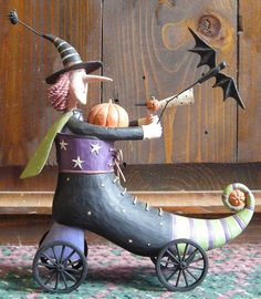 Kickstart Halloween from the Williraye Studio Halloween Collection $49.99 at the Cottage Gift Shop - Elmira, NY