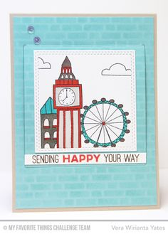 Label Maker Sentiments, London Mouse, Totally Happy, Double Stitched Square STAX Die-namics, Interactive Window STAX Die-namics, London Mouse Die-namics - Vera Wirianta Yates  #mftstamps