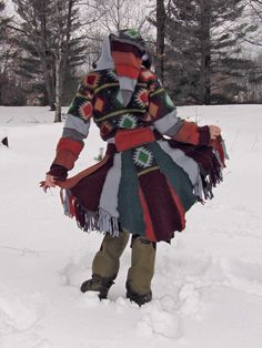 French-Canadian fur trapper wizard coat awomanaday.com