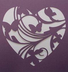 Heart Flourish Stencil by kraftkutz on Etsy Stencils, Stencil Templates, Stencil Patterns, Stencil Art, Heart Stencil, Silhouette Curio, Silhouette Portrait, Kirigami, Diy And Crafts