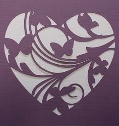 Heart Flourish Stencil by kraftkutz on Etsy