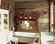 Rustic, nice if it weren't for the double sink