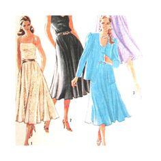 Simplicity 5461 Vintage  Pattern Misses Pullover Dress Size 10 Uncut
