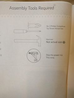 This instruction manual for building my cabinet.