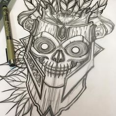 Starting this Voodoo Mask today ! African Warrior Tattoos, Voodoo Tattoo, Norse Tattoo, Mask Tattoo, Punk Art, African Masks, Gothic Art, Tatoos, Hawaiian