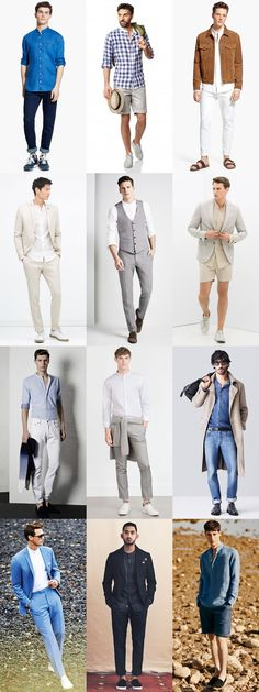 Men's Collarless/Granddad Shirts Outfit Inspiration Lookbook