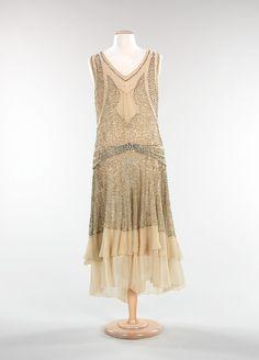 Evening dress, 1928-30, From the Metropolitan Museum of Art
