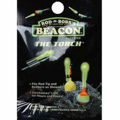 Rod-N-Bobb The Torch Light Stick, Green, Multicolor Best Torch, Light Emitting Diode, Torch Light, Day For Night, Led Flashlight, Bite Size, Light Up, Bobbers, Green