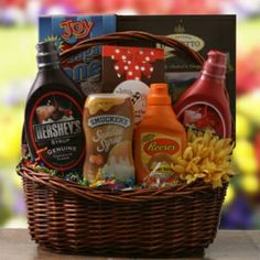Ice Cream Sundae Gift Basket $75 - Help your college student make friends with this basket filled with ice cream sundae essentials!