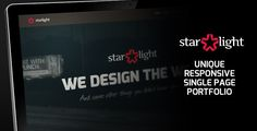 Starlight – Responsive Portfolio    This is Starlight, responsive single page html/css portfolio template. Starlight is perfect for freelancers or small creative agencies and it comes in two...