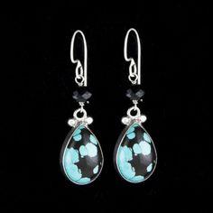 Great Falls Metalworks - Bezel Teardrop earrings in sterling silver with turquoise. LSE_194-TU #turquoise DVVS Fine Jewelry