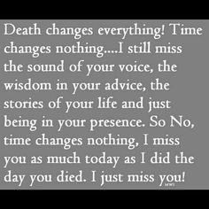 So true, miss you much. In loving memory of Skip Perdue