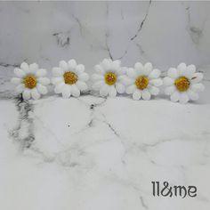 White daisy hair pins Plur rave bohemian gypsy boho