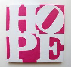 Quadro per arredamento moderno Hope dipinto a mano su tela Acquista su www.colorscrazy.it