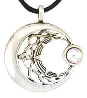 Moon Venus Rising Pendant Necklace  Durable Pewter  Bonus Cord Necklace * Be sure to check out this awesome product.