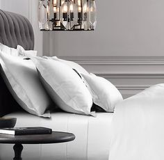 RH's Italian Vintage-Washed 600-Thread-Count Sateen sheet Bedding Collection $200