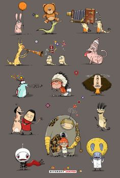 Characters of art realm. Funny, sad, wise and cool! by Aleksei Bitskoff, via Behance
