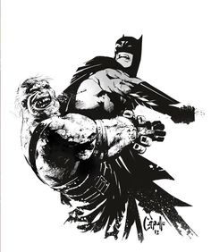 Batman vs Solomon Grundy by Greg Capullo