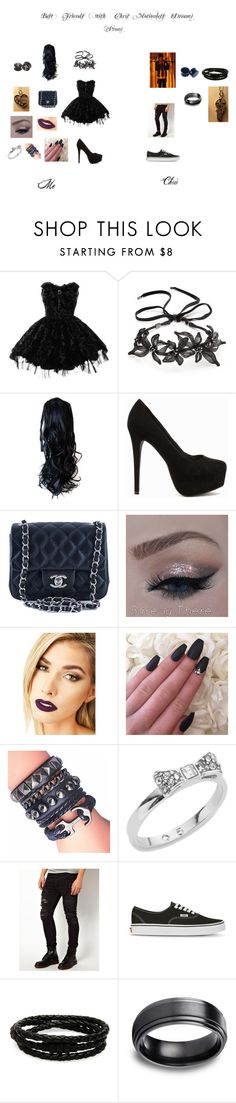 """""""Best Friends with Chris Motionless Dream (Prom)"""" by lauravampire ❤ liked on Polyvore featuring beauty, Hell Bunny, Colette Malouf, Nly Shoes, Chanel, Lime Crime, Hai, Kate Spade, ASOS and Vans"""