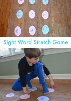 Sight Word Stretch Game! Get moving and learn sight words!