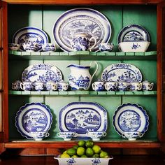 """""""19th & 18th C. Canton and Nanking Export Porcelain. Decoration by #johnpeixinho Photo by Thomas Loof #blueandwhite #porcelain #housebeautiful #interiordesign #decoration #newport"""" Photo taken by @newportlampandshadecompany on Instagram, pinned via the InstaPin iOS App! http://www.instapinapp.com (01/25/2015)"""