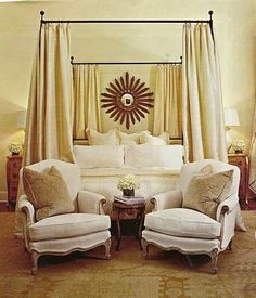 curtains behind bed | Master Bedroom | Pinterest | Bedrooms ...