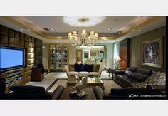 豪放的古典豪宅_古典風設計個案—100裝潢網
