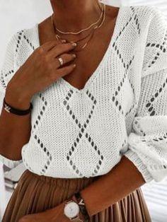 Lace Knitting Patterns, Knitting Stitches, Summer Knitting, Baby Knitting, Hand Knitted Sweaters, Knit Fashion, Style Fashion, Crochet Clothes, Knit Crochet