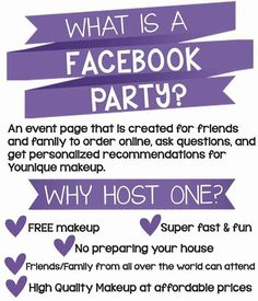 Want to earn free makeup but not sure what a Facebook party is well here is a run down so let's get your party started today and let people get an early start on Christmas shopping www.youniqueproducts.com/taraacevedo