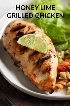 This Honey Lime Grilled Chicken uses the simplest marinade for grilling chicken that's perfect for summer. Lime Marinade For Chicken, Honey Lime Chicken, Chicken Marinade Recipes, Chicken Marinades, Easy Chicken Recipes, Grilling Chicken, Pork Recipes, Lemon Chicken Piccata, Planning Budget